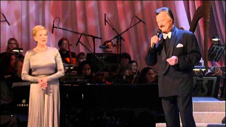 "Original Sir Lancelot on Broadway, Robert Goulet sings ""If Ever I Would Leave You"" to original Queen Guenevere, Julie Andrews."