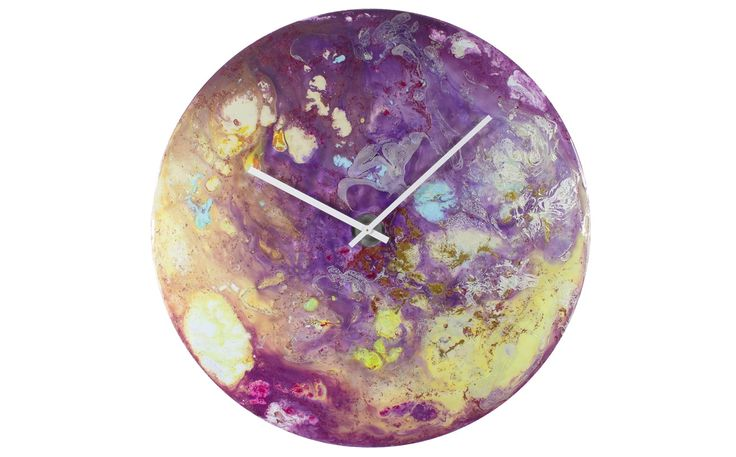 Large Purple Clock