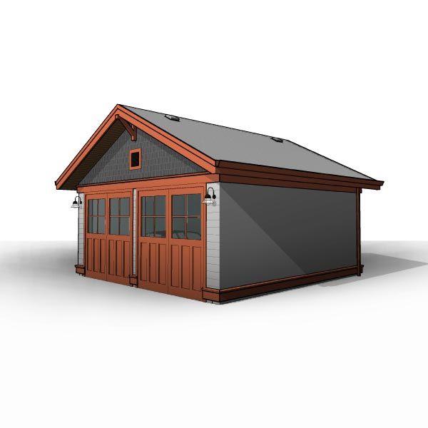 Craftsman 20 X20 Detached Two Car Garage In 2020 Two Car Garage Garage Plans Garage Blueprints