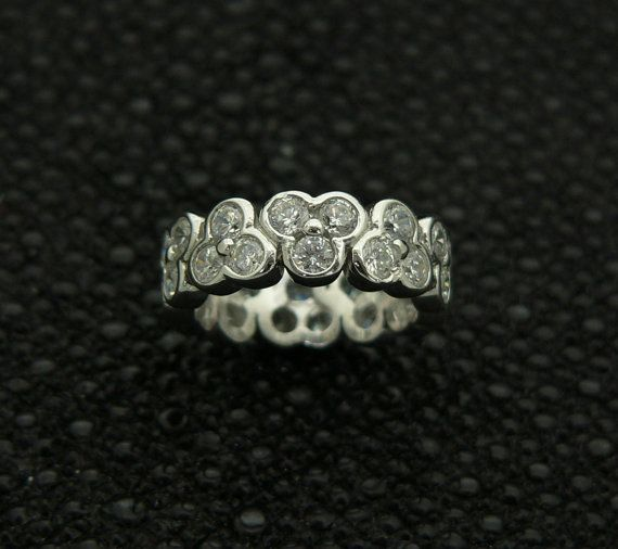 new,925,sterling,silver,classic,ladies,unique,design,ring,band,handset,cz,rhodium,plated,plus,jewelry,gift,box