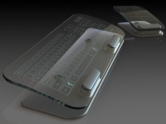 Transparent keyboard and mouse