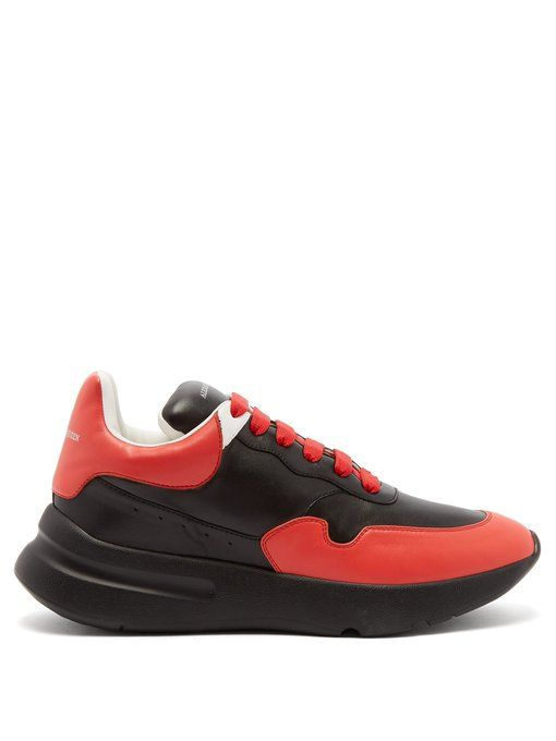 1cce5ea4975b ALEXANDER MCQUEEN Raised-sole low-top leather trainers.  alexandermcqueen   shoes