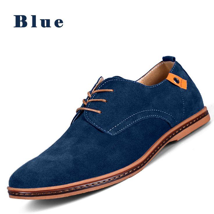 Tienda Online PINSV Hombres Zapatos Casual Zapatos Para Hombre de Los Holgazanes de Cuero de Gamuza Negro Oxford Zapatos Para Hombres Zapatos Hombre Tamaño Grande 38-48 Erkek Ayakkab | Aliexpress móvil