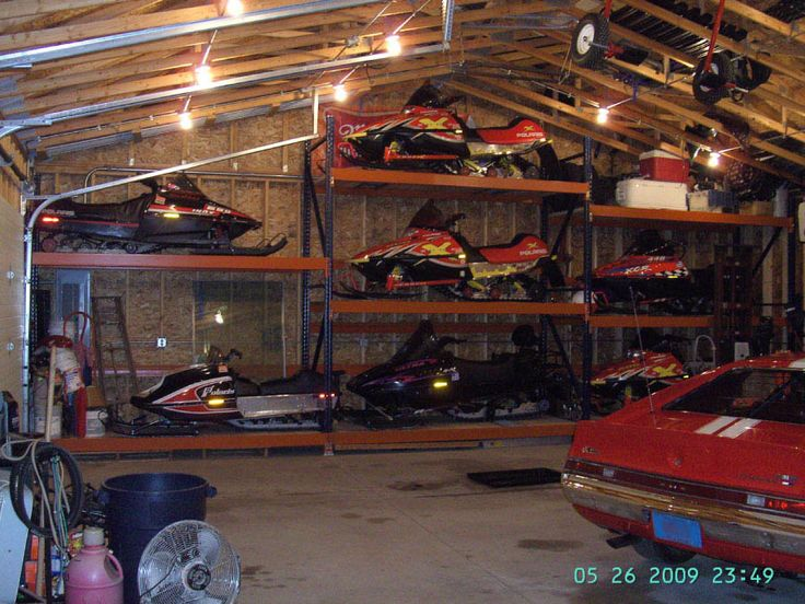 Snowmobile Atv Storage Lift Rack Car Interior Design
