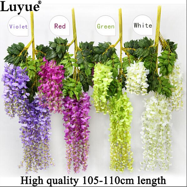 Cheap rattan poles, Buy Quality rattan flower directly from China rattan handbag Suppliers: Wedding Decoration Silk Flower Garland Artificial Flower Wisteria Vine Rattan For Party Home Garden Hotel decor