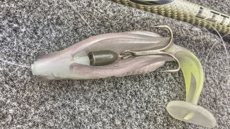 Russ Lane's rigged swimbait from the belly / David A. Brown