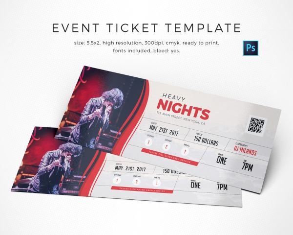 The 25+ best Event ticket template ideas on Pinterest Event - how to design a ticket for an event