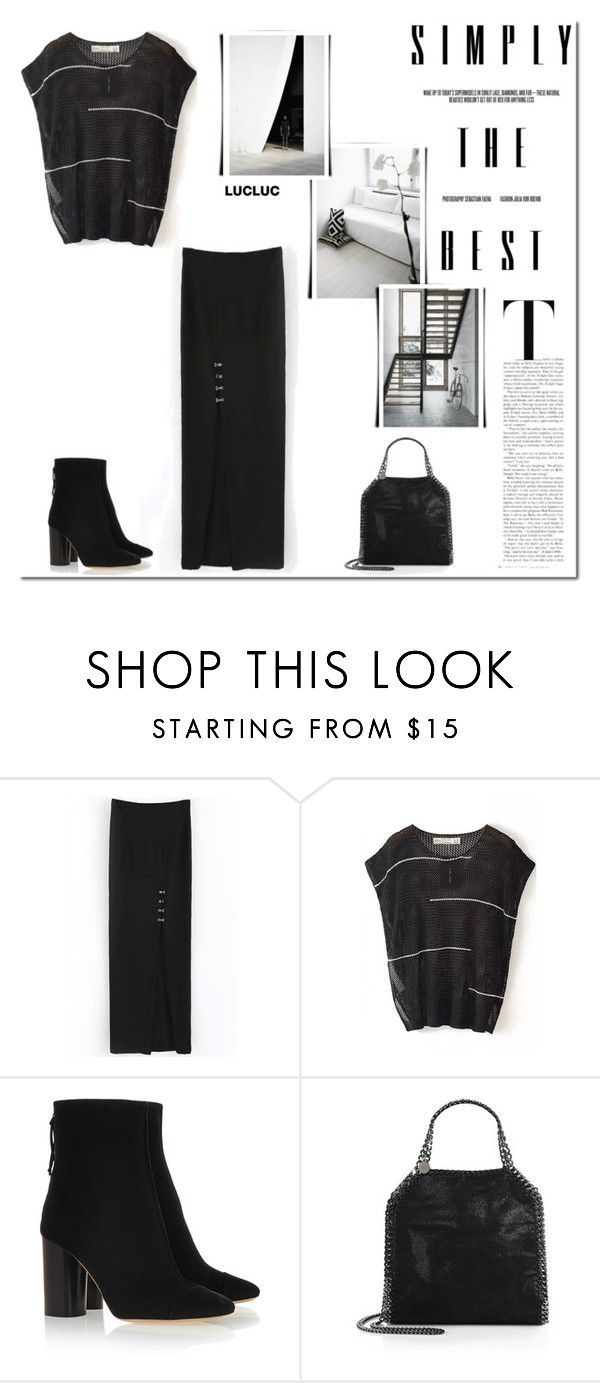 """Simply the best!"" by tatajrj ❤ liked on Polyvore featuring Isabel Marant, STELLA McCARTNEY, black, blackandwhite, Blackstyle and lucluc"
