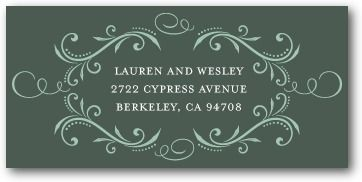 Personalized Address Labels Estate Dinner - Front : Willow