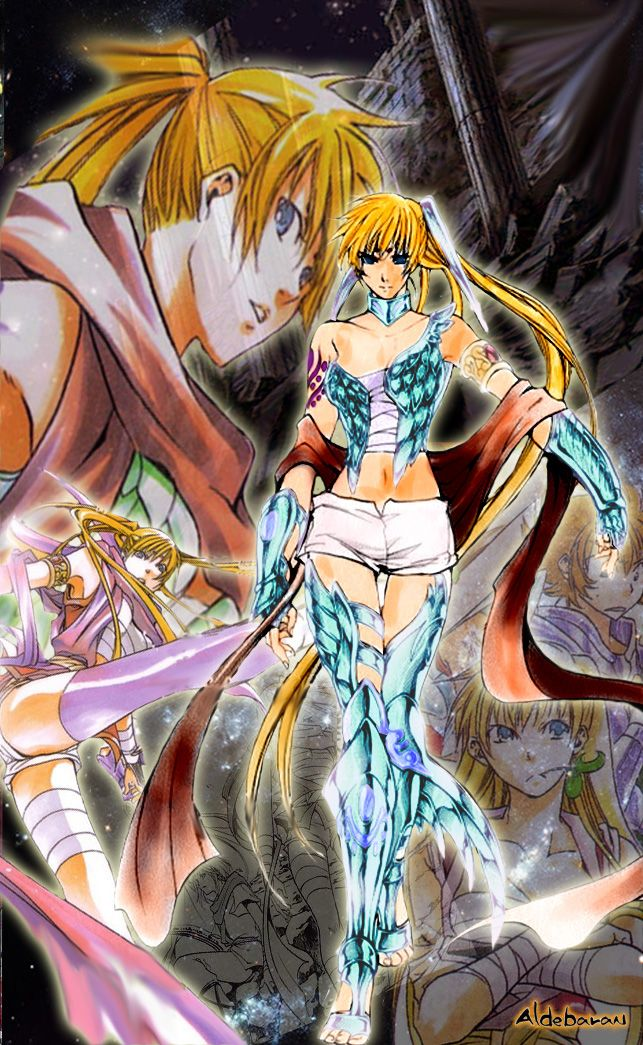 Un detalle a Yuzuriha, una de las guerreas mas sexys del universo Saint Seiya ^^