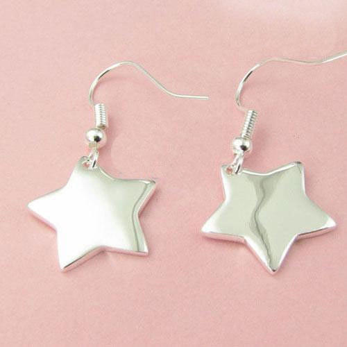 Sterling Silver Star Earring http://nyfashionstar.com/accessories/jewelry/sterling-silver-specials/sterling-silver-star-earring.html