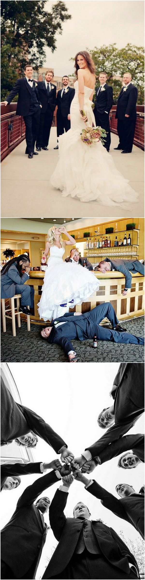 great bride with groomsmen wedding photo ideas