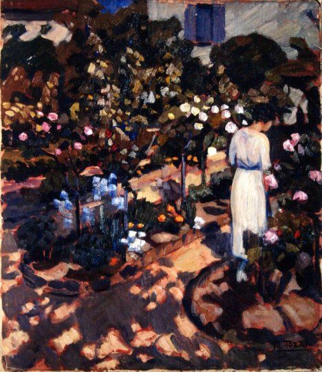 Mario Tozzi: 1920 Il giardino di Lignorelles (Nel giardino fiorito)