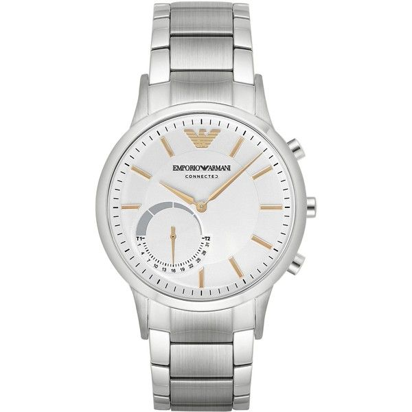 EMPORIO ARMANI Ea Connected Watches (€290) ❤ liked on Polyvore featuring men's fashion, men's jewelry, men's watches, men, silver, mens watches jewelry, mens watches, emporio armani mens watches and stainless steel mens watches