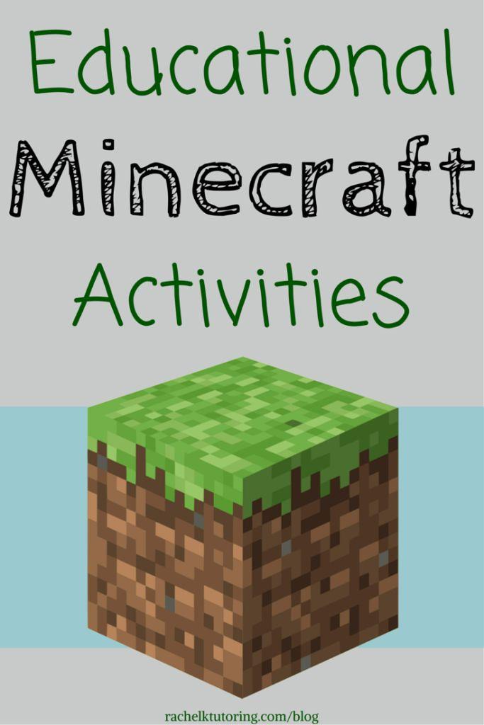 Atividades educativas Minecraft | Rachel K Explicações Blog