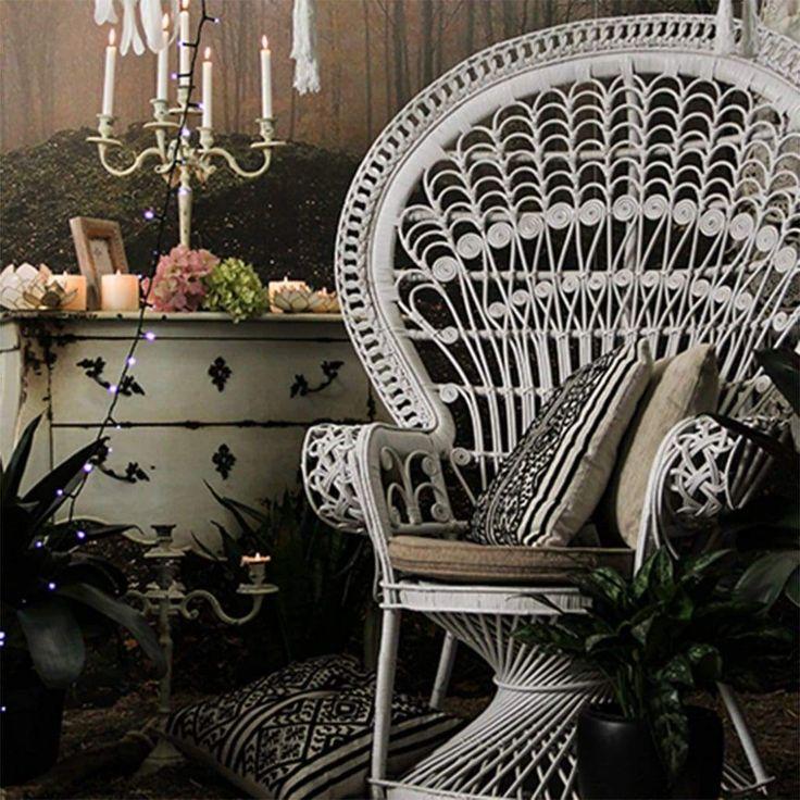 White Rattan Peacock Armchair Furniture Ishka In 2019