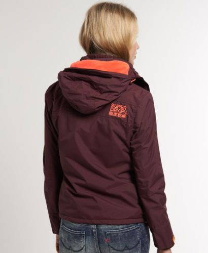 New-Womens-Superdry-Arctic-Windcheater-Jacket-Aubergine