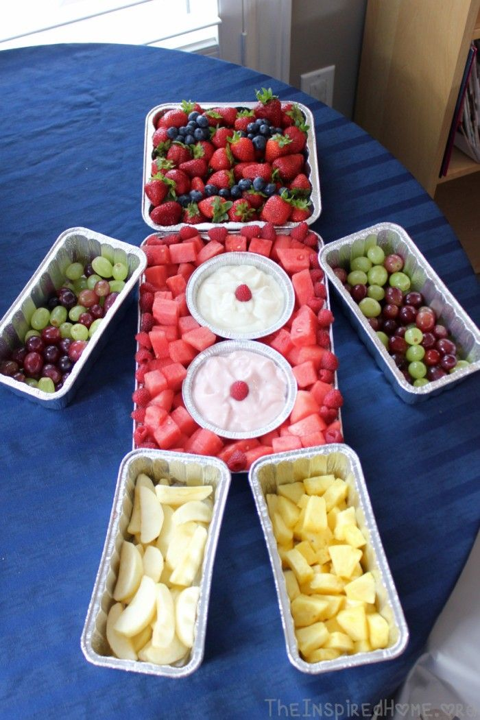 TheInspiredHome.org // Robot Birthday Party - Fruit Tray