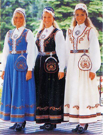 Brodert Vestfolbunad -FolkCostume&Embroidery: Overview of Norwegian Costumes. Part 1, the Southeast.