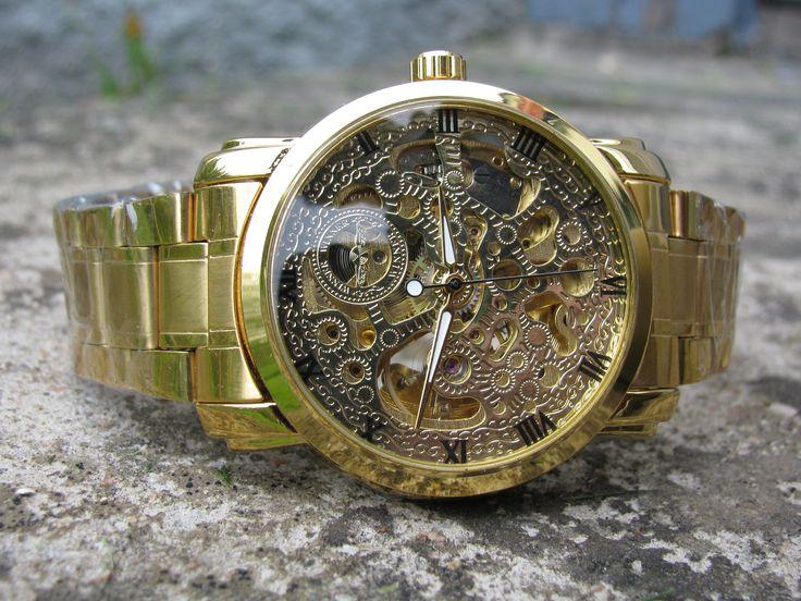 Armbandsur Winner - Hollow Metall (guld)