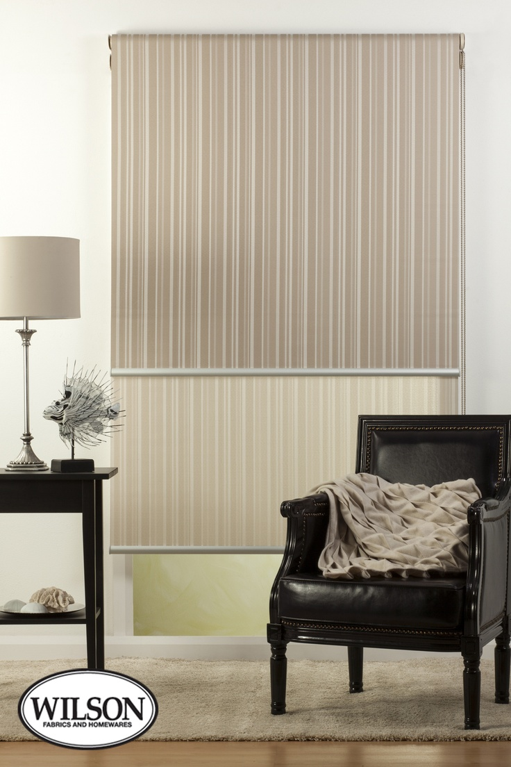 Austin Blind Fabric features a textured stripe design which coordinates with the Wilson Santiago Drapery Range. With these ranges, you can mix and match curtains and blinds throughout the house while maintaining the same colour theme and style. Australian Made, the Translucent option offers superior light filtering properties, providing privacy while letting in natural light.