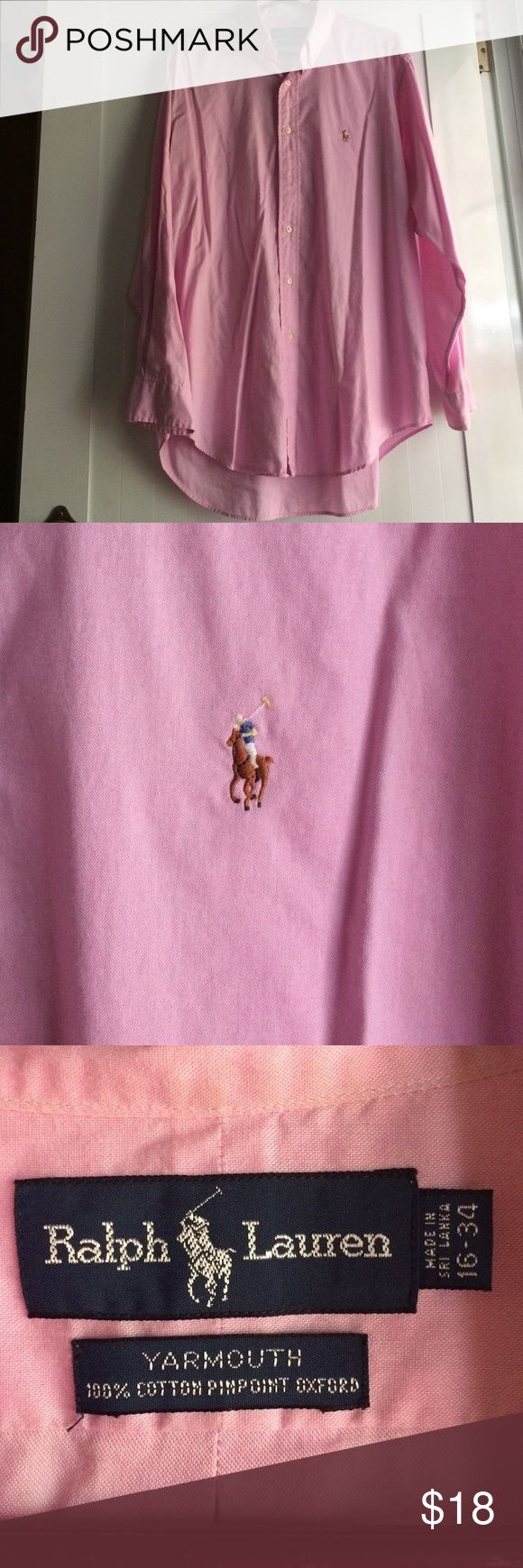 Polo Ralph Lauren men shirt Preowned men size 16/34 Polo Ralph Lauren button down shirt good conditions Polo by Ralph Lauren Shirts Dress Shirts