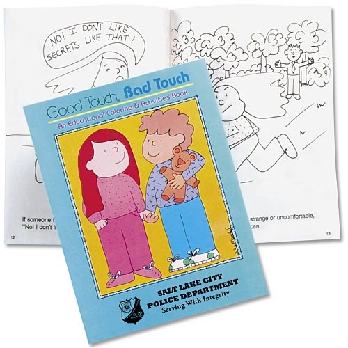 good touch bad touch educational activities book personalization available - Good Touch Bad Touch Coloring Book