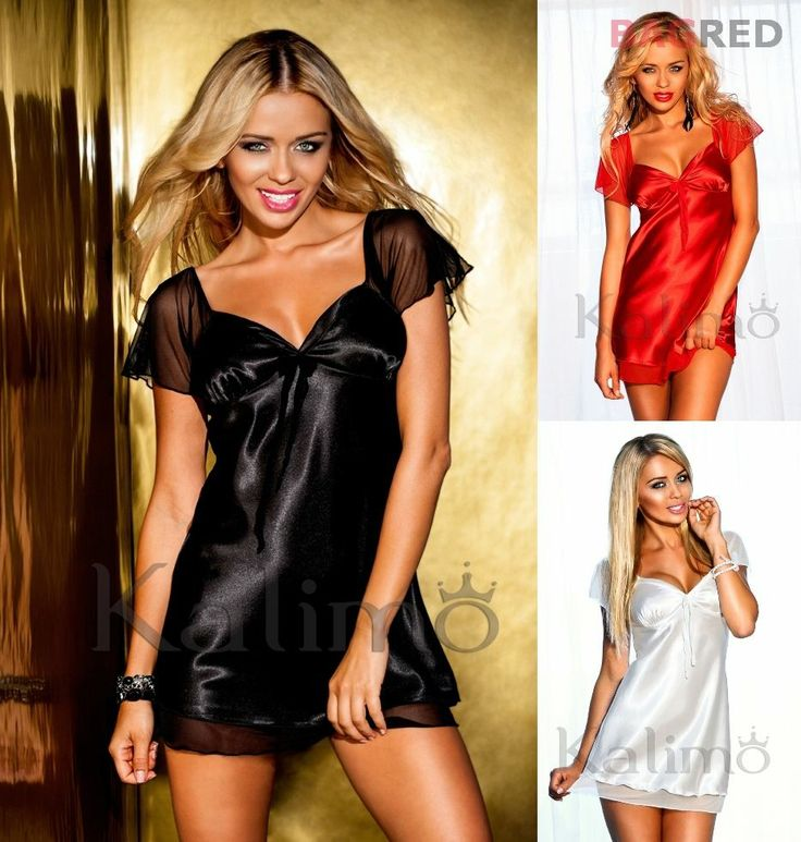 Hot Satin Chemise Nightdress VALENCIA Luxury Nightwear Sleepwear Slip Nightie