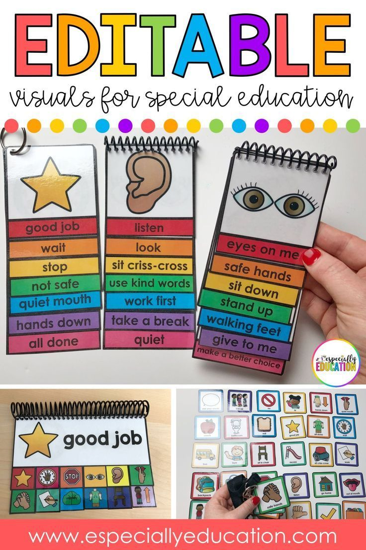 Editable Visible Schedules for Autism and Particular Schooling #specialeducationteac…