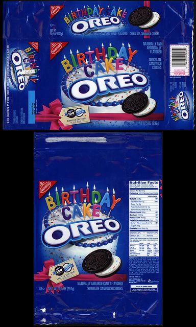 Nabisco - Oreo - Birthday Cake - cookie package - 2012 by JasonLiebig, via…