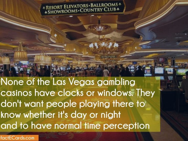 Are there clocks in las vegas gambling casinos charlie borders casino issue