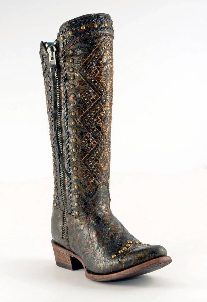 Corral Aztec Zip Up Boots, $309.95