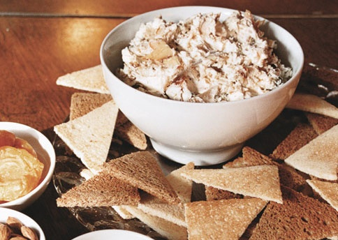 Smoked trout dip http://www.bonappetit.com/recipes/2009/12/smoked_trout_dip_with_toast_points_nuts_and_dried_fruit
