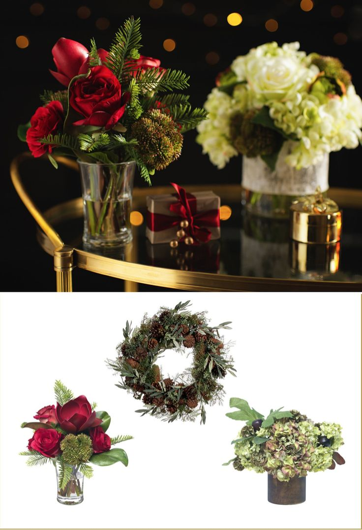 Beautiful winter and Christmas floral displays - - Luxury Christmas designs and inspiration from Luxdeco. Injecting Festive glamour into the home.
