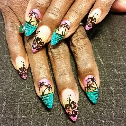Arty Tropics Nail Tattoos