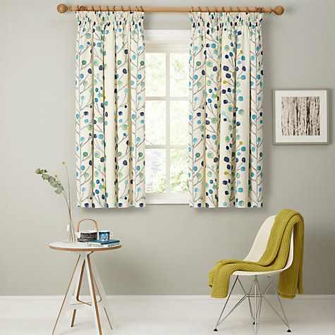 Buy Scion Berry Tree Lined Pencil Pleat Curtains, Orange Online at johnlewis.com