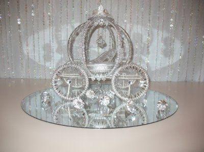 Cinderella centerpiece- glass slipper on a silk pillow - 148 Best Wedding Carriages For Centerpieces Images On Pinterest