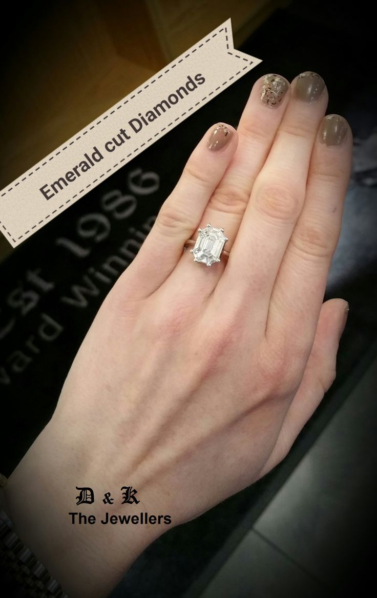 Emerald Cut Diamond Engagement Rings Are Perfect For Those Who Like The  More Simplistic Cutting Style