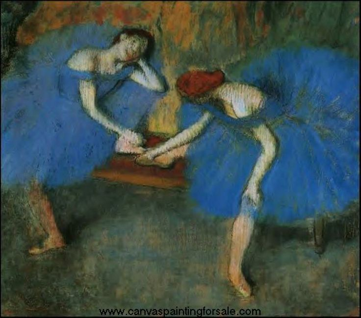 Edgar Degas   Two Dancers in Blue
