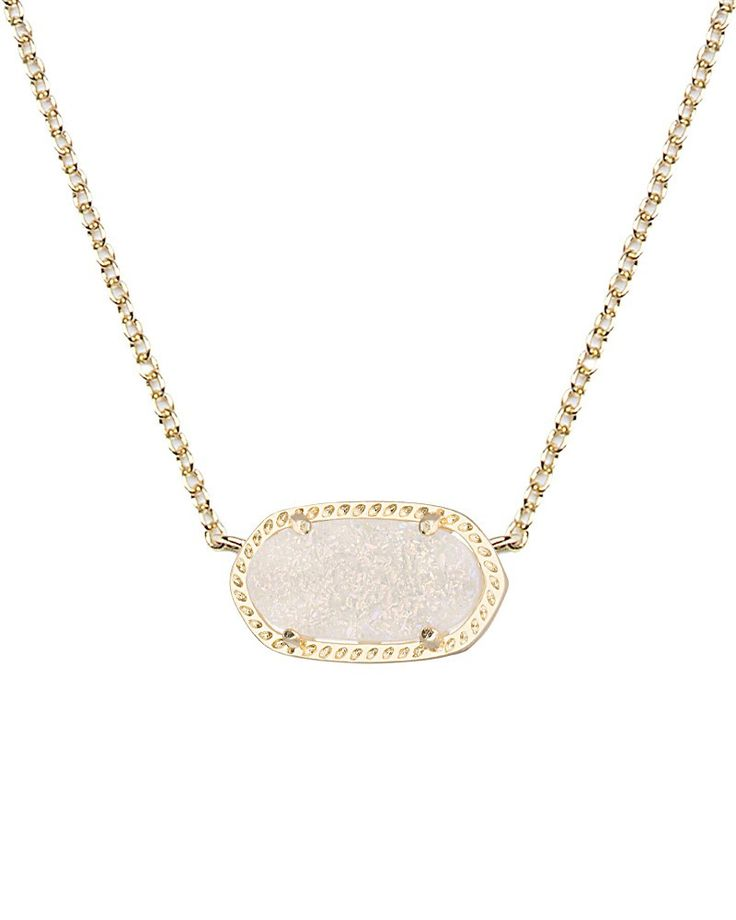 KENDRA SCOTT Elisa Necklace in Iridescent Drusy from Sabi Boutique