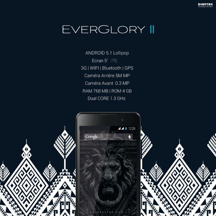 Le voilà de retour, enfin ! La légende d'Evertek, sa référence... Un prodige, un génie, un Smartphone pas comme les autres, l'EverGlory II. 4 ans après la sortie de l'EverGlory I, voici son nouveau frère, complet, ultra performant et solide. Avec la dernière version d'Android Lollilop, il est sans aucun doutes un Smartphone Complet au prix Waw!