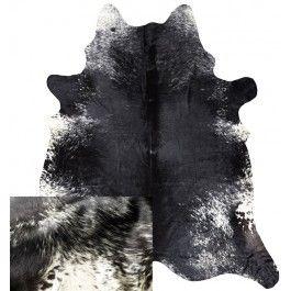 NATURAL COWHIDE RUG BLACK & WHITE SALT PEPPER