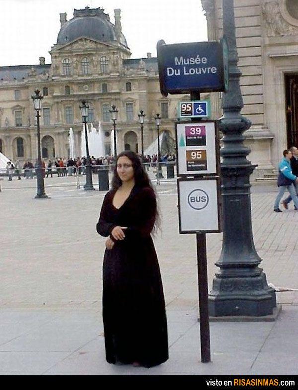Disfraces originales: Mona Lisa.