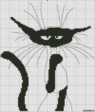 Картинка  Whiskers and outline would be one bead-width? (loomwork)