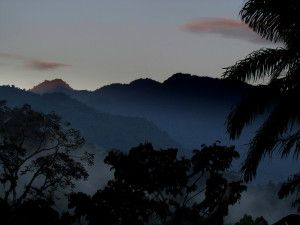 The peaks of La Amistad National Park in the morning light