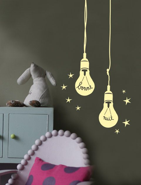 Good night night lights kid spacesroom decorationskid decorwall