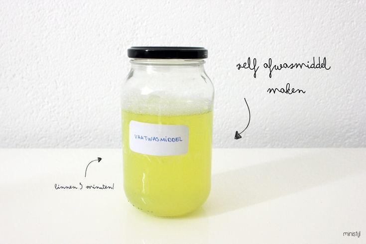 DIY: zelf vaatwasmiddel maken zonder Borax (binnen 5 minuten klaar!)