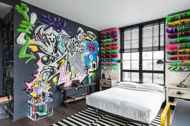 """Stylish bedroom for teenage boy Комната мальчика-подростка, блог """"Твой Дизайнер"""""""