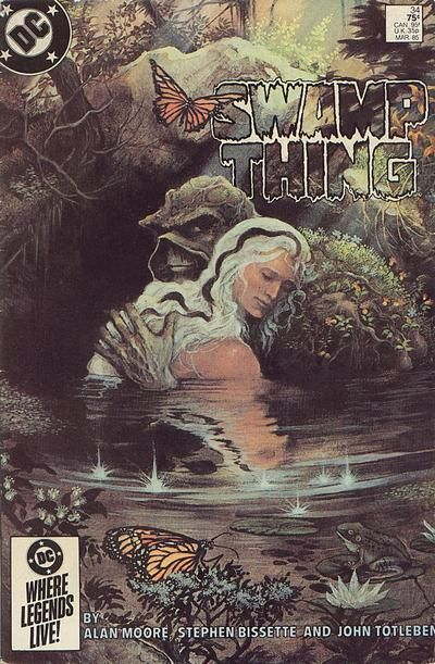 1985: Kirby Award, Best Continuing Series Saga of the Swamp Thing (DC, 1982 series) by Alan Moore, Steve Bissette and John Totleben; 1985 Kirby Award, Best Cover: Swamp Thing #34, by Steve Bissette and John Totleben (DC); 1985 Kirby Award, Best Writer; Alan Moore, for Swamp Thing (DC); 1985 Kirby Award, Best Art Team: 1985 Steve Bissette and John Totleben, for Swamp Thing (DC)