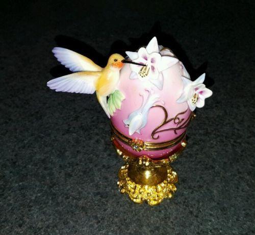 House Of Faberge Rufous Hummingbird Egg Trinket Box